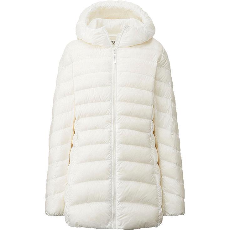 WOMEN Ultra Light Down Hooded Short Coat
