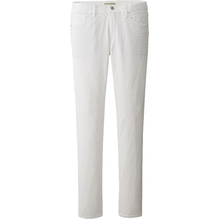 MEN SKINNY FIT TAPERED AIR JEANS, WHITE, large
