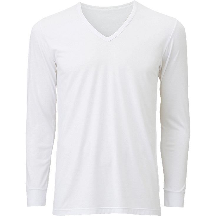 MEN HEATTECH V NECK T-SHIRT (LONG SLEEVE) | UNIQLO US