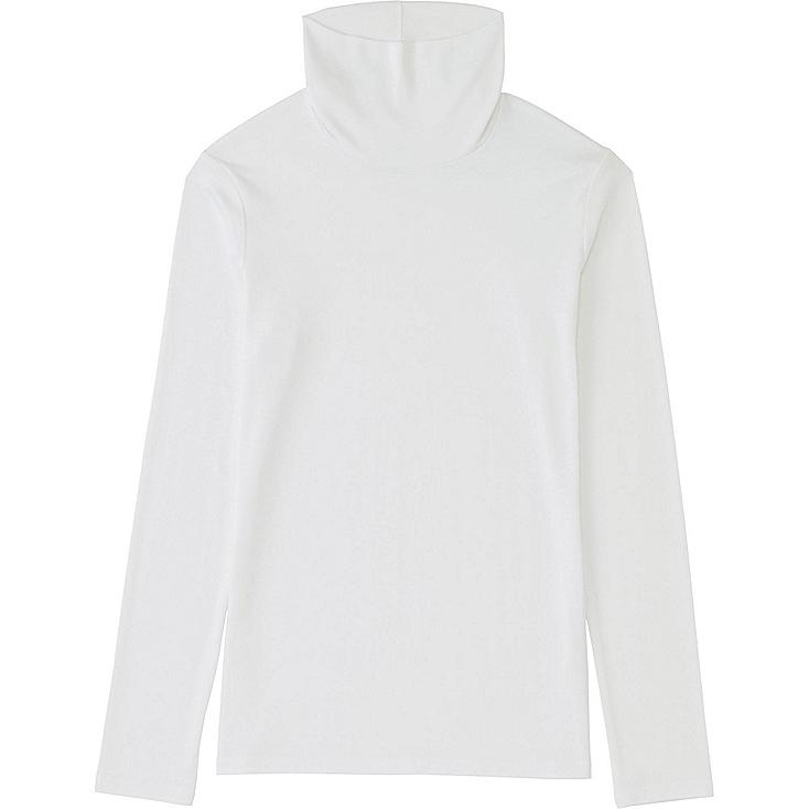 WOMEN Supima Cotton Modal Polo Neck Long Sleeve T-Shirt