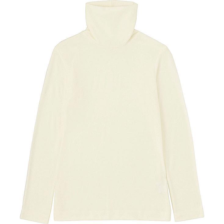 W's HEATTECH T-shirt, WHITE, large