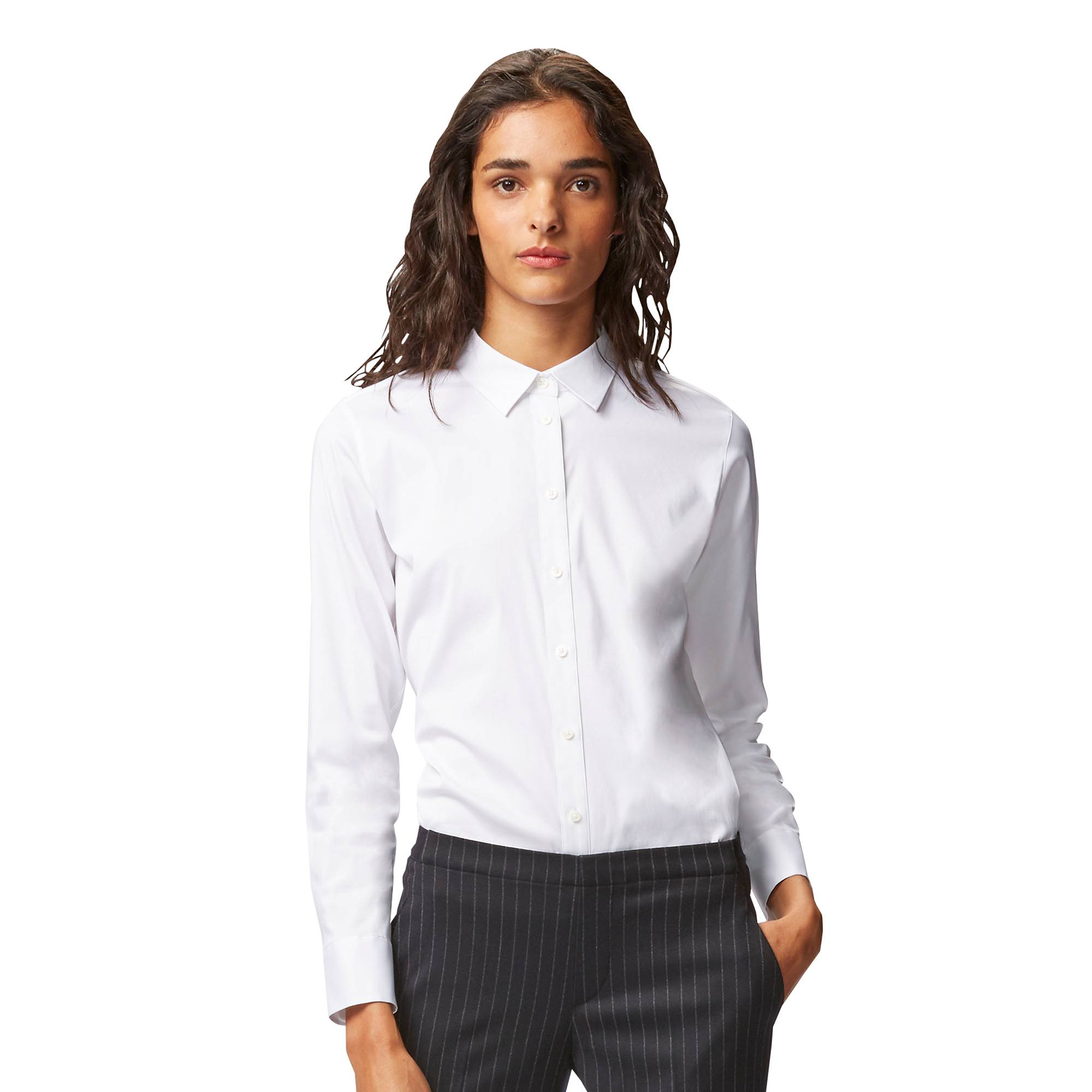 WOMEN Supima® COTTON STRETCH LONG SLEEVE SHIRT | UNIQLO US