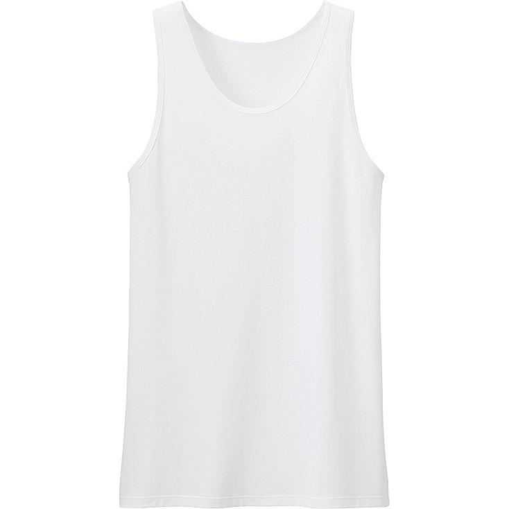 Men AIRism Mesh Tank Top, WHITE, large