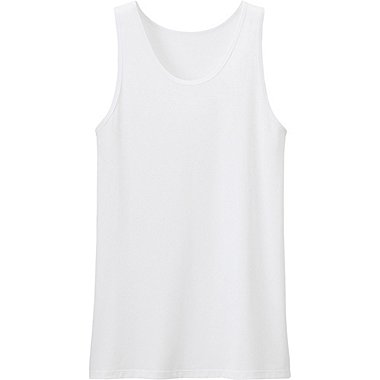 Mens AIRism Mesh Tank Top, WHITE, medium