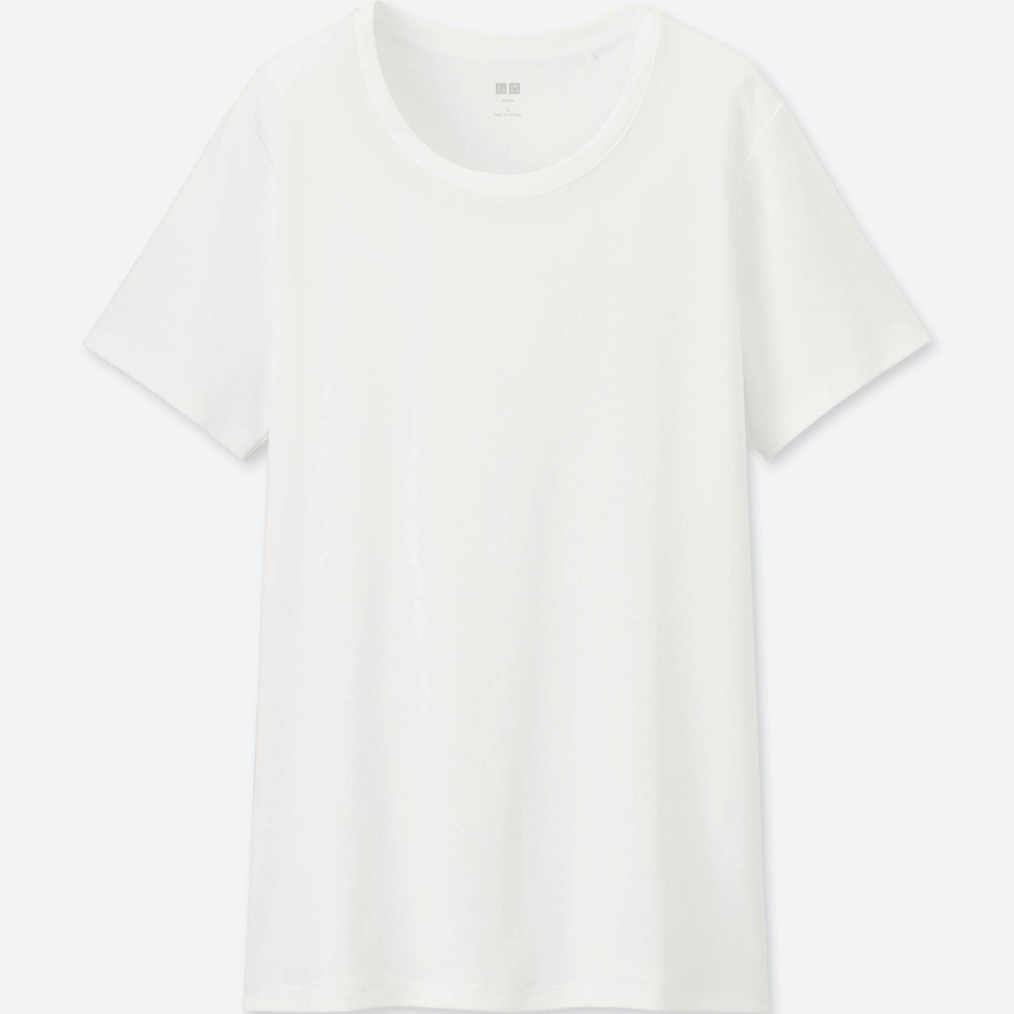 Women Supima® Cotton Crew Neck T-Shirt | UNIQLO US