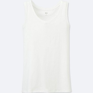 Women Supima® Cotton Tank Top, WHITE, medium