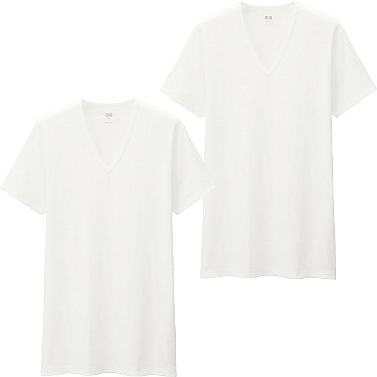 HERREN Supima Cotton T-Shirt mit V-Ausschnitt