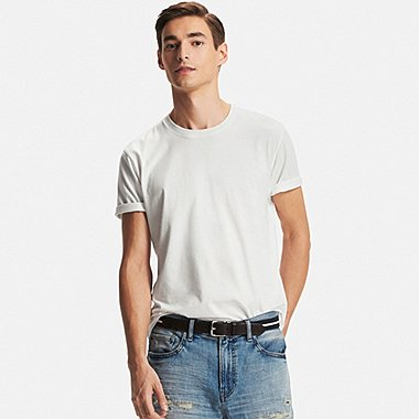 Men DRY Crew Neck T-Shirt, WHITE, medium