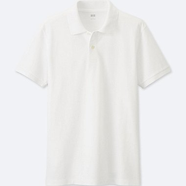 MENS DRY PIQUE POLO SHIRT, WHITE, medium
