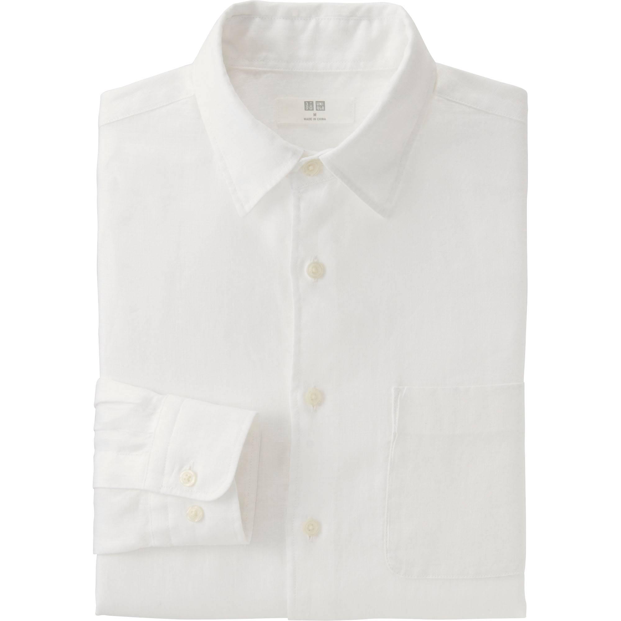 Men Premium Linen Long Sleeve Shirt | UNIQLO US