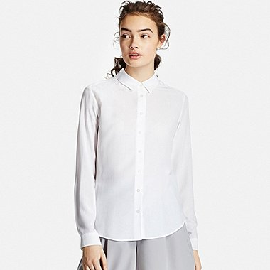 a13fa713621358 Women s Collared Long Sleeve Blouse