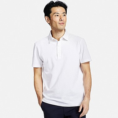 MENS WASHED PIQUE POLO SHIRT, WHITE, medium