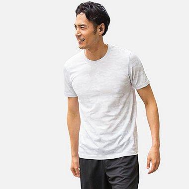 Mens DRY-EX Crew Neck T-Shirt, WHITE, medium