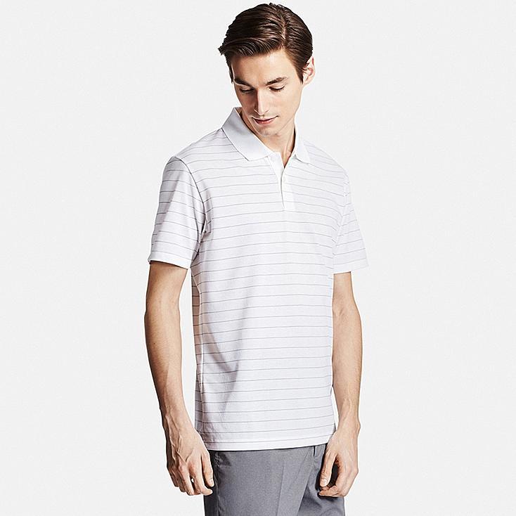 Men DRY-EX Polo Shirt, WHITE, large