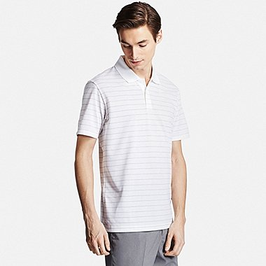 Mens DRY-EX Polo Shirt, WHITE, medium