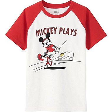 BOYS MICKEY PLAYS SHORT SLEEVE GRAPHIC T-SHIRT, WHITE, medium
