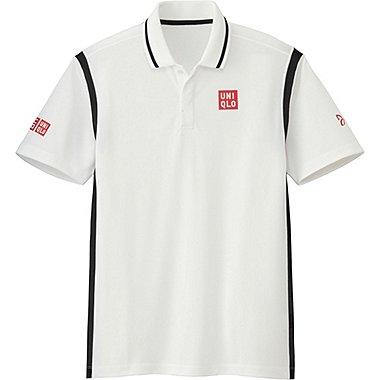 Mens Novak Djokovic DRY-EX Polo Shirt 16FRA, WHITE, medium