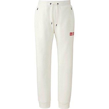 Mens Novak Djokovic DRY Stretch Sweatpants 16FRA, WHITE, medium
