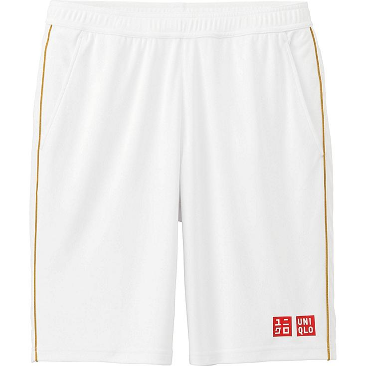 Men Novak Djokovic DRY Tennis Shorts 16WB, WHITE, large