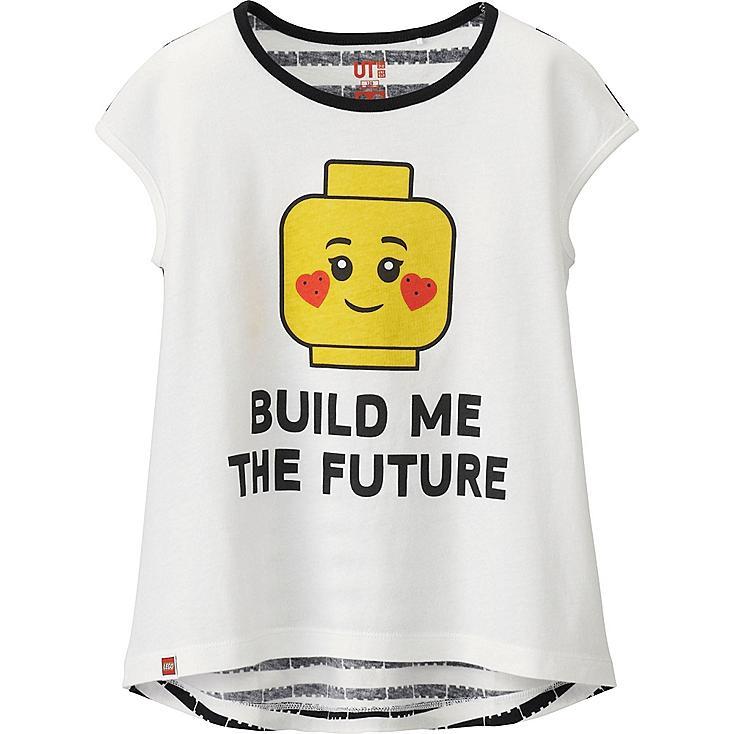 Girls LEGO® Graphic Tee, WHITE, large