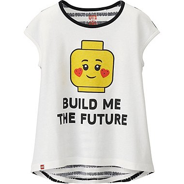 Girls LEGO® Graphic Tee, WHITE, medium