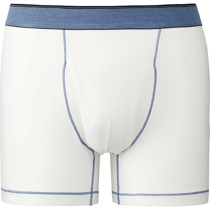 Men's Supima® Cotton Stitch Belt Boxer Briefs, WHITE, large