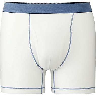 Mens Supima® Cotton Stitch Belt Boxer Briefs, WHITE, medium