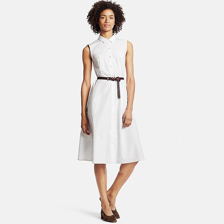 Women Crisp Cotton Sleeveless Dress | UNIQLO US