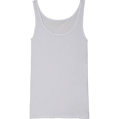 Womens AIRism Ultra Stretch Sleeveless Top, WHITE, medium
