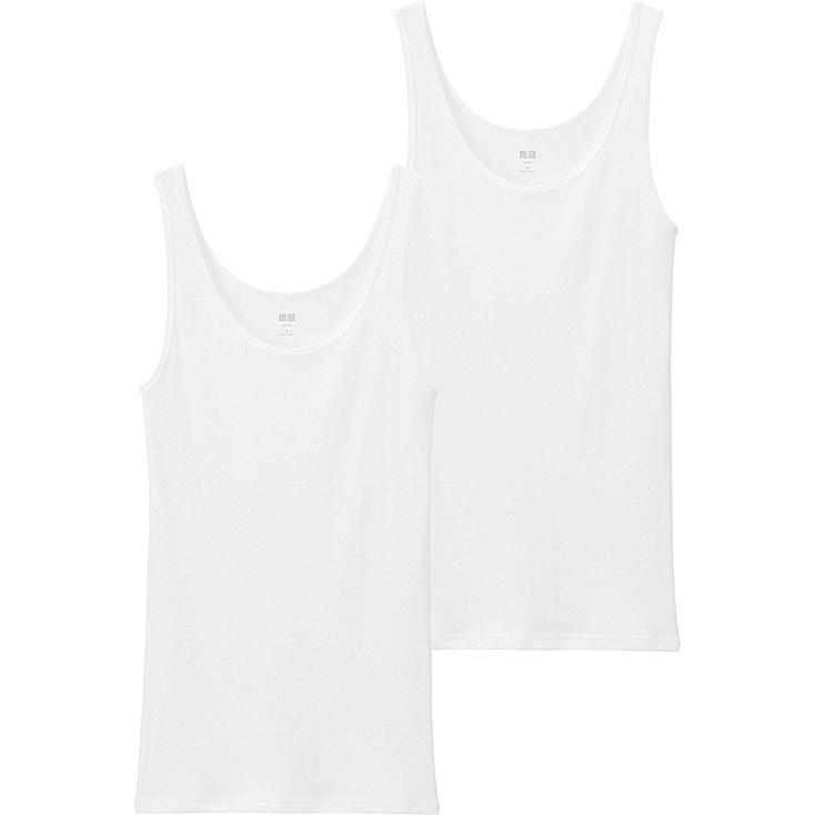WOMEN Supima Cotton Sleeveless Top - 2 Pack