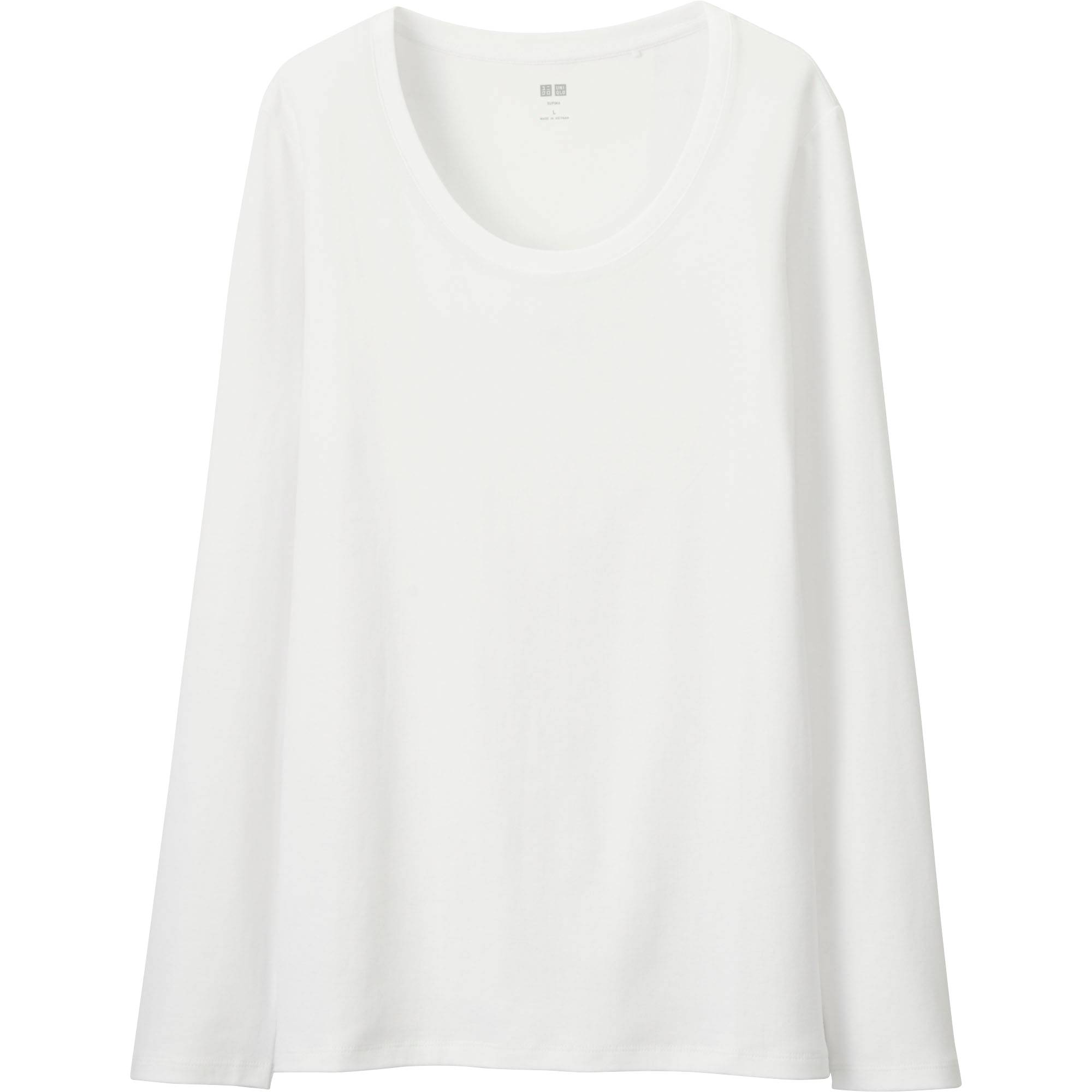Women Supima® Cotton Crewneck Long Sleeve T-Shirt | UNIQLO US