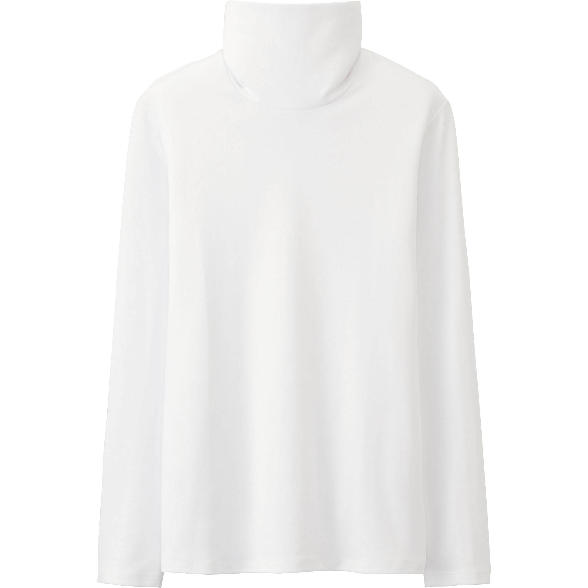 WOMEN Supima® COTTON TURTLENECK LONG SLEEVE T | UNIQLO US