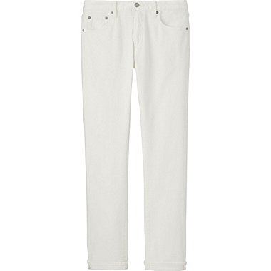 Men Stretch Selvedge Slim Fit Jeans, WHITE, medium