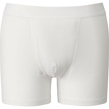 MEN SUPIMA COTTON BOXER BRIEFS, WHITE, medium