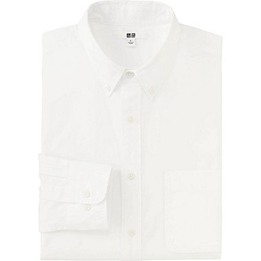 MEN EXTRA FINE COTTON BROADCLOTH LONG SLEEVE SHIRT, WHITE, medium