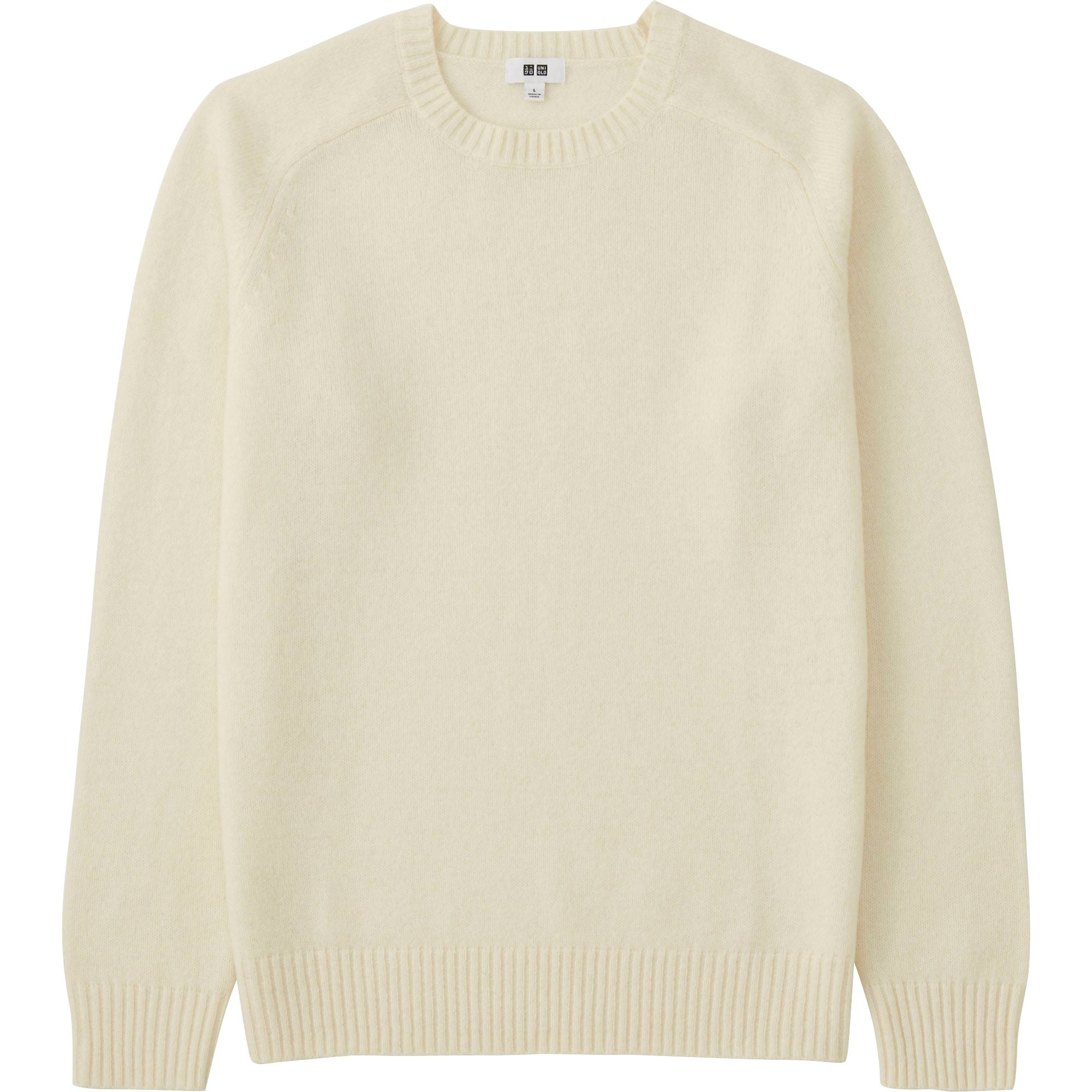 Men Lambswool Crew Neck Sweater | UNIQLO US