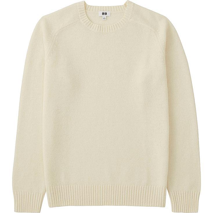 MEN Lambswool Crew Neck Sweater