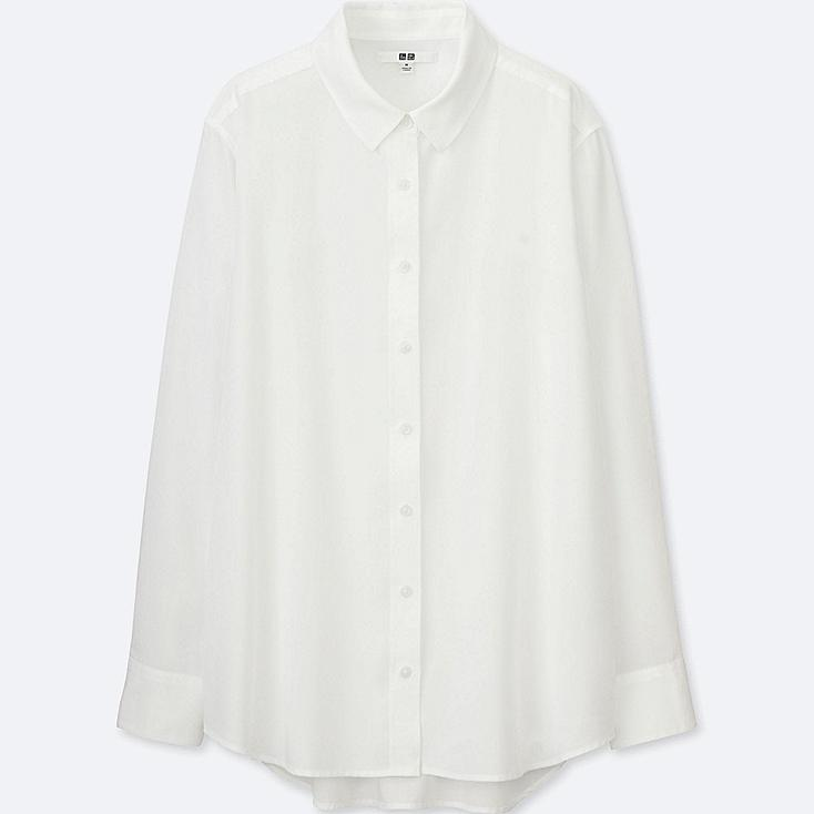 WOMEN RAYON LONG SLEEVE BLOUSE | UNIQLO US