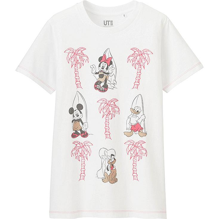Women disney project graphic t shirt uniqlo us for Oversized disney t shirts