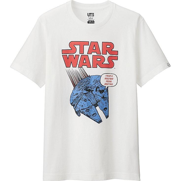 Star Wars Graphic Tee, WHITE, large