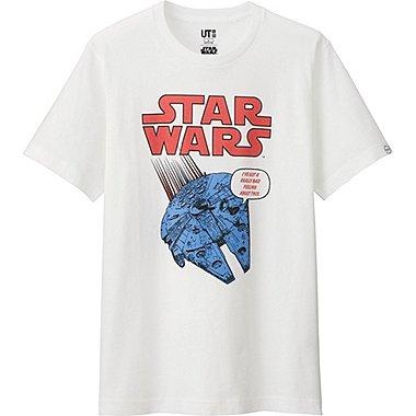 Mens Star Wars Graphic Tee, WHITE, medium