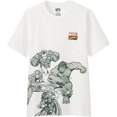 Mens Marvel Graphic Tee, WHITE, medium