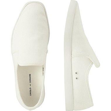 LEMAIRE CANVAS SLIP-ON, WHITE, medium