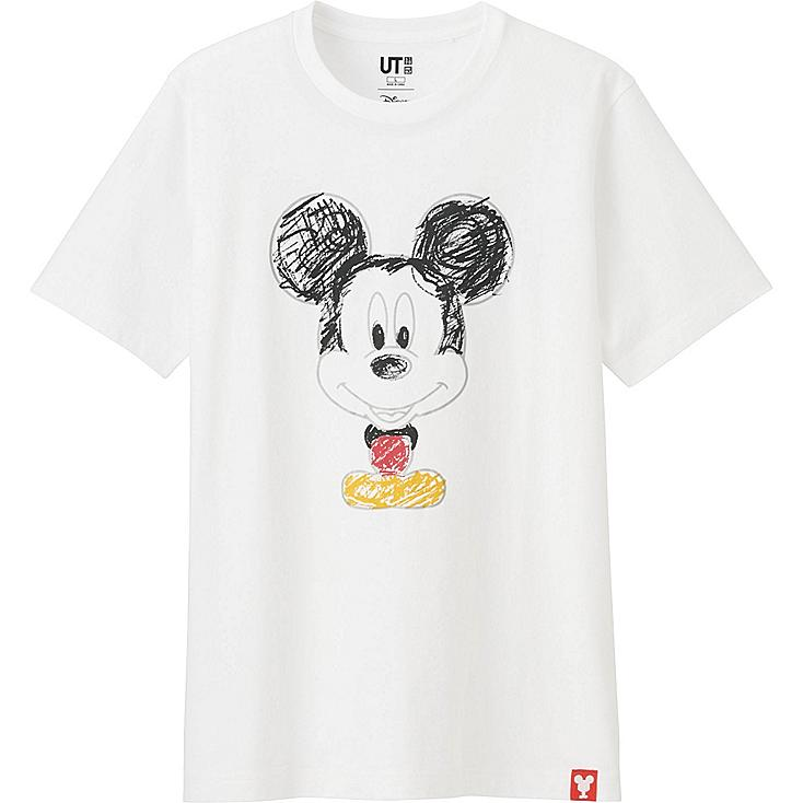 MEN MICKEY 100 SHORT SLEEVE GRAPHIC T-SHIRT, WHITE, large