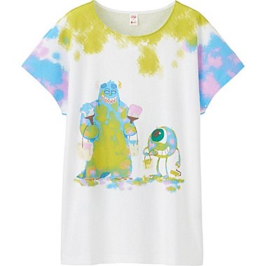Womens UTGP Pixar Graphic Tee, WHITE, medium