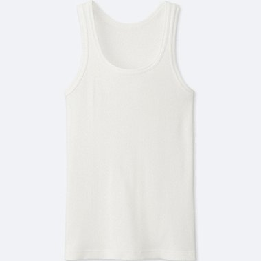 MEN PACKAGED DRY COLOR RIB TANK TOP, WHITE, medium
