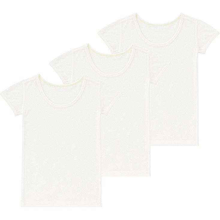 TODDLER MESH INNER SHORT-SLEEVE T-SHIRT 3-PACK, WHITE, large