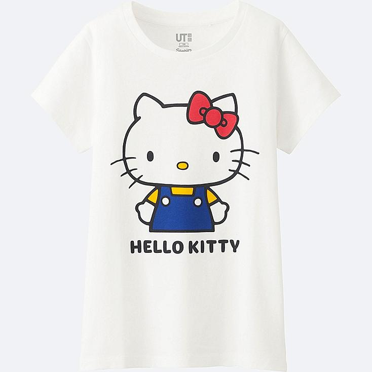 GIRLS SANRIO SHORT SLEEVE GRAPHIC T-SHIRT, WHITE, large