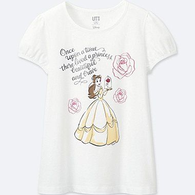 GIRLS Disney Beauty and the Beast GRAPHIC T-SHIRT, WHITE, medium