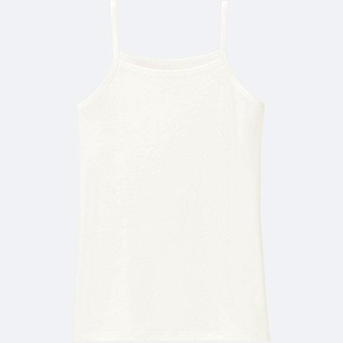 GIRLS AIRism CAMISOLE, WHITE, medium
